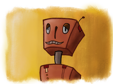 """Ongoing art project - """"Robot Picture Day"""" - 3/4"""