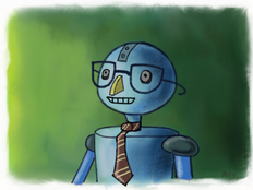 """Ongoing art project - """"Robot Picture Day"""" - 1/4"""