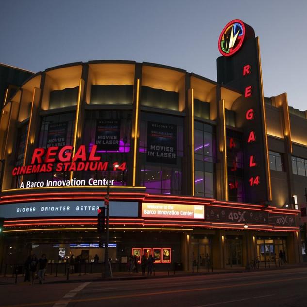 The lovely Regal Cinemas at LA Live