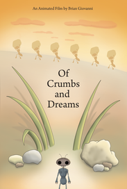 """Final poster / one sheet layout for """"Of Crumbs and Dreams."""""""