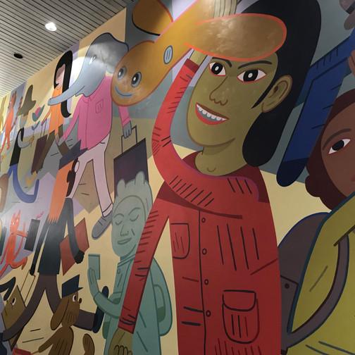 Even the airport celebrates art!