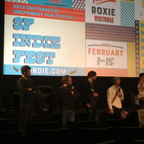 At the Q&A after the Animation program - I'm the taller one