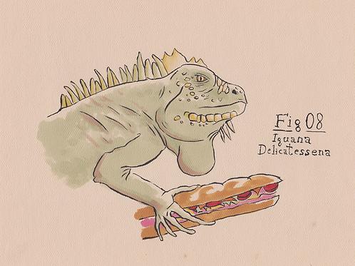 Fig. 08 Iguana Delicatessena (Original)