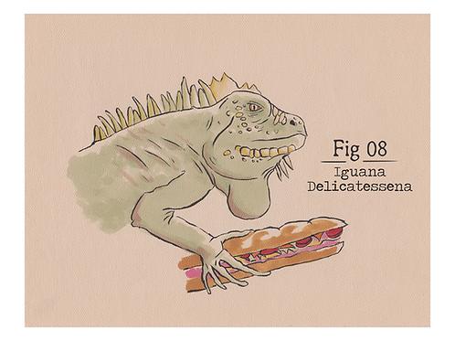 Fig. 08 Iguana Delicatessena (Print)