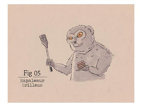 Fig. 05 Hapalemur Grilleus (Print)