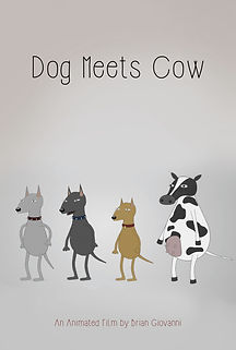 Dog Meets Cow - Temp Poster