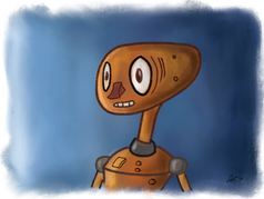 """Ongoing art project - """"Robot Picture Day"""" - 2/4"""