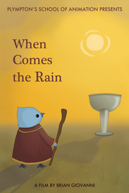 """Final poster / one sheet layout for """"When Comes the Rain"""""""