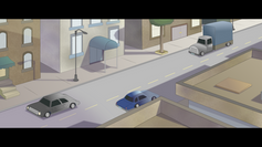 City layout for upcoming animated short