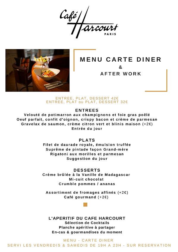 CARTE CAFE _ AUTOMNE 2020- DINER AFTERWO