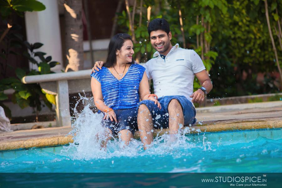 Post-Wedding Shoot in ECR, Chennai  Anu + Sambi