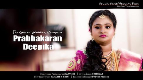 GANGA SWEETS Family Wedding Reception Ceremony | Prabhakaran + Deepika