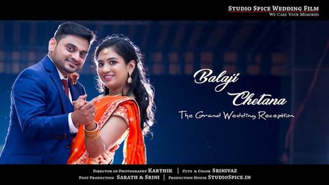 The Grand Wedding Reception Film { Balaji + Chetana } Chennai [ HD ]