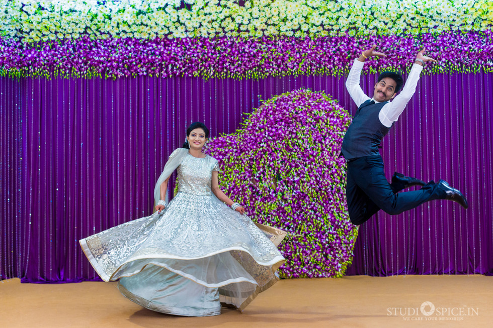 South indian Grand Reception Vidya + Sasi Kumar