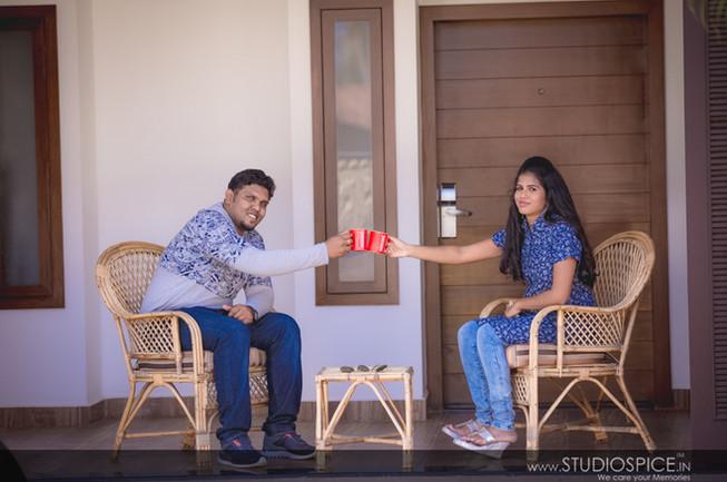 Post-Wedding Shoot in ECR, Chennai Raj + Zino