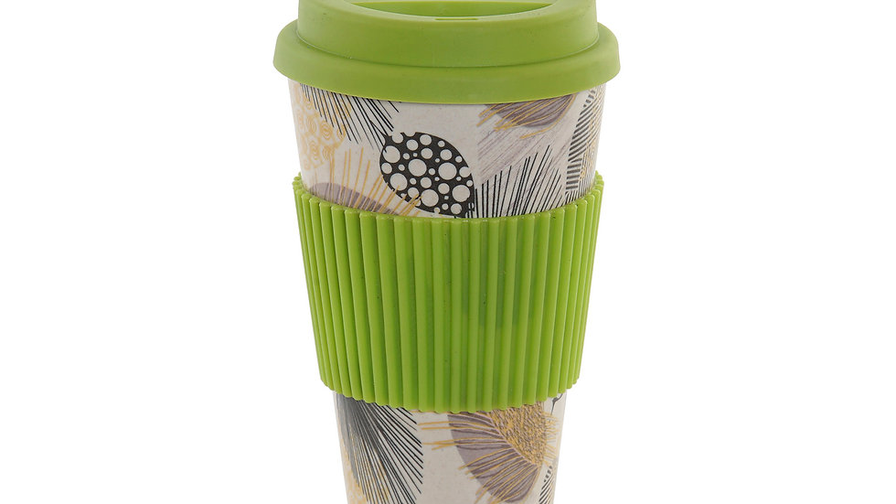 Taza de bambú con tapa