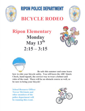 Ripon Elementary Bicycle Rodeo