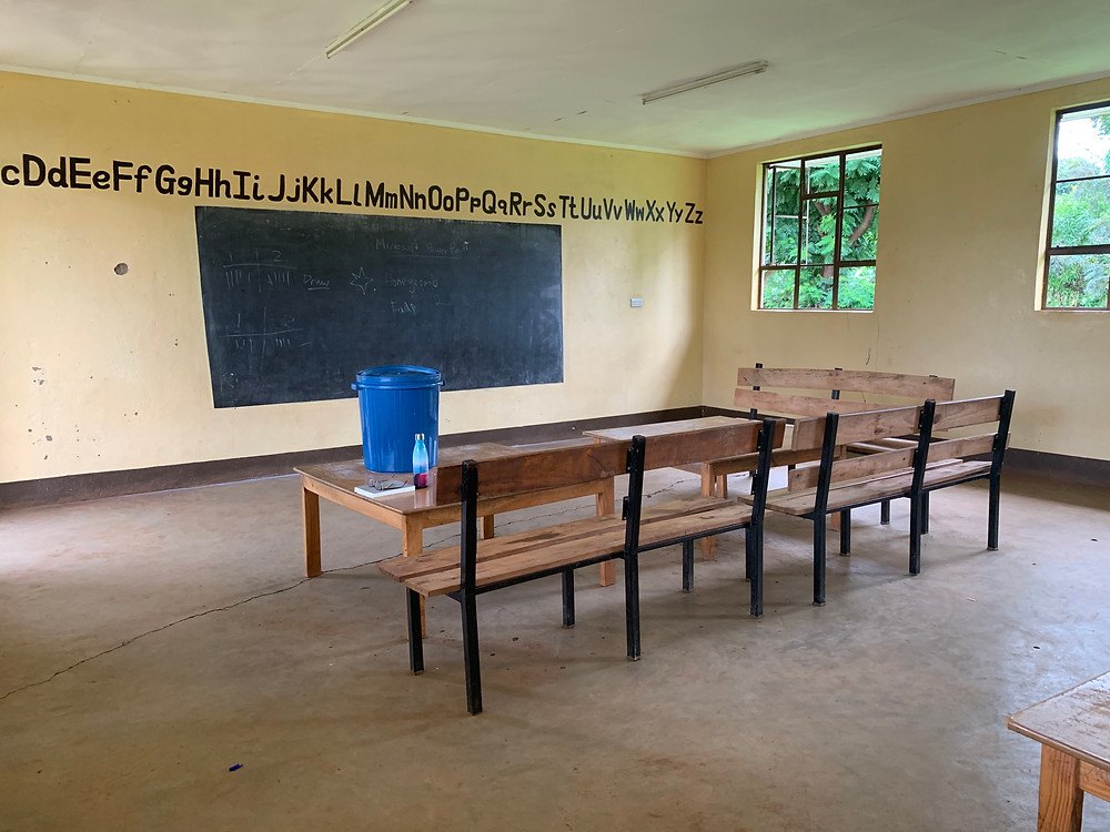 Ms. Taylor's classroom in Africa