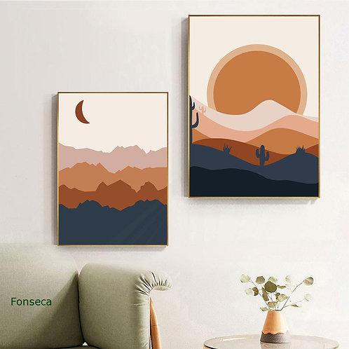 Boho Landscape Wall Print