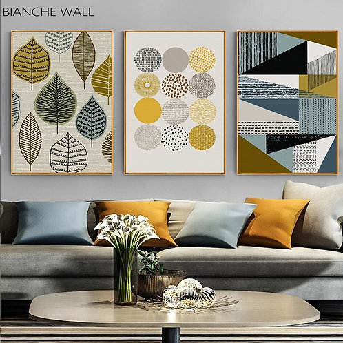 Color Block Geometric Abstract Poster