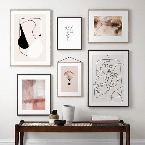 Pink Swirl Fluid Art Posters