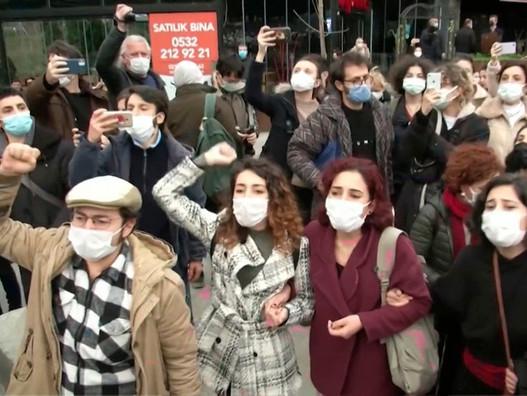 Студенческие протесты в Стамбуле