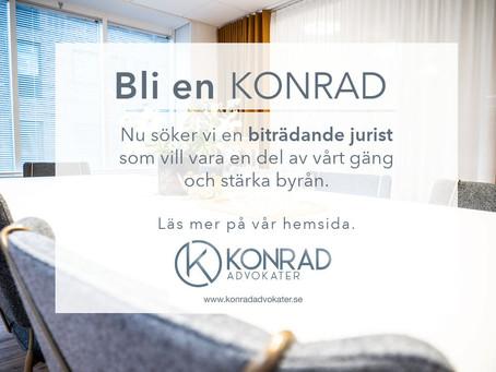 Konrad söker biträdande jurist