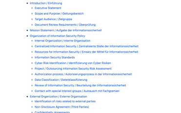Weisung zur Informationssicherheit