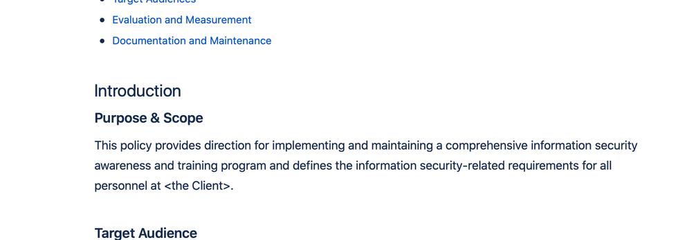 Richtlinie für die Durchführung von Awareness Massnahmen