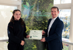 Eva recieving her Planet Hero CertificateFrom Ballindaggin N.S.