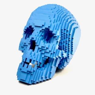 Baby Blue Skull