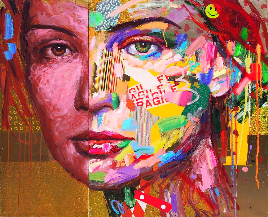 COLORFUL SMELL     cm 120 x 100 (diptych