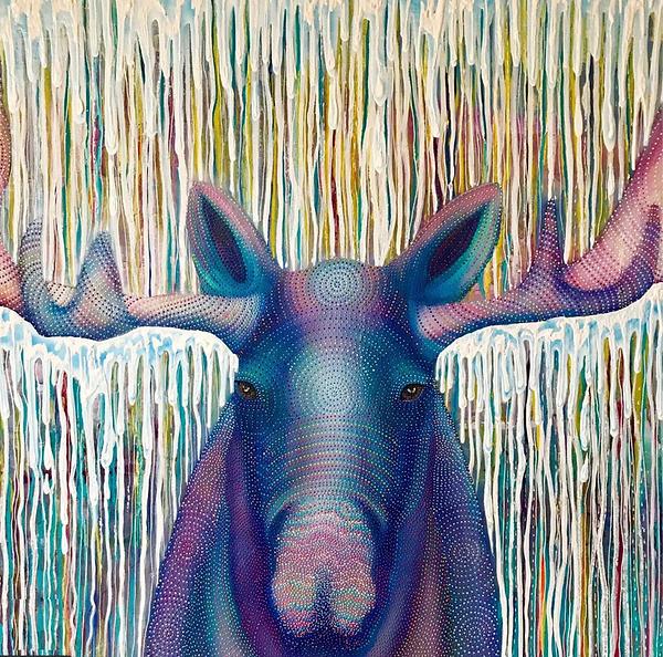 It Moose Be Raining40x60Acrylic on Birch