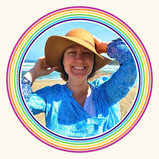 LISA LOVE HALL PROFILE PIC hat rainbow h