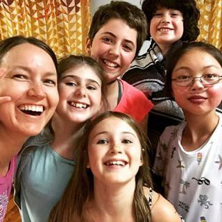 Mindful Kids Camp group photo selfie