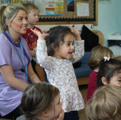 Nursery, key worker, fun, spanish, nursery children, singing, having fun.JPG