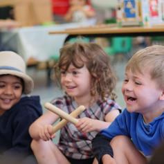 making fun spanish music, kids, children, sticks, fun, language.jpg