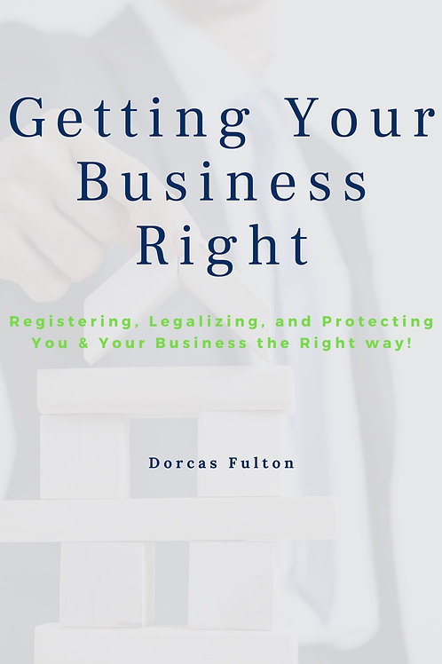 """""""Getting Your Business Right"""" E-book"""