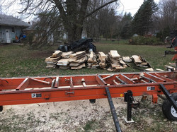 Sawmill in action.
