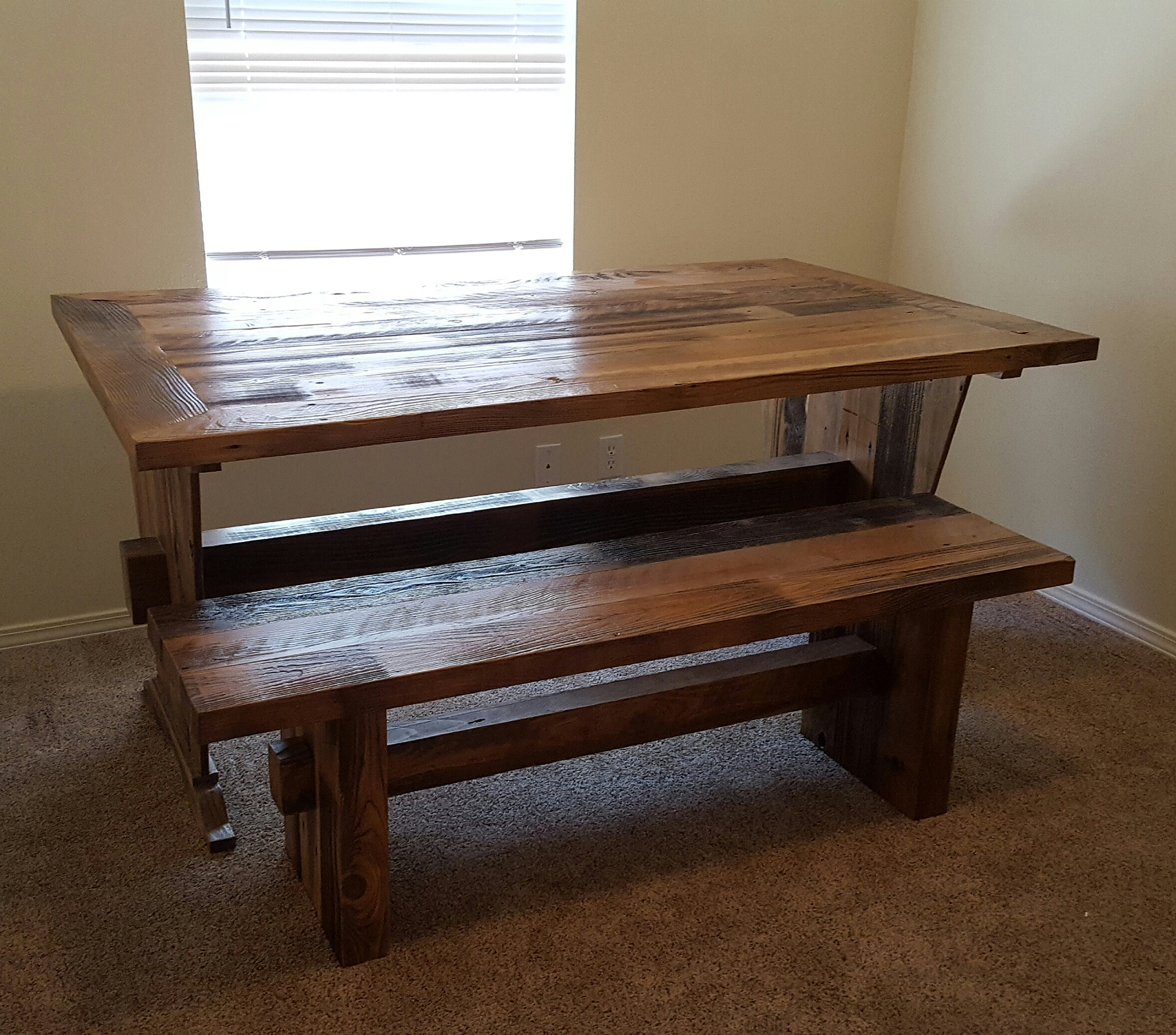 Jeffu0027s Portable Sawmill U0026 Woodworks. Madison, Wi | Reclaimed Cedar Rustic  Farmhouse Table.