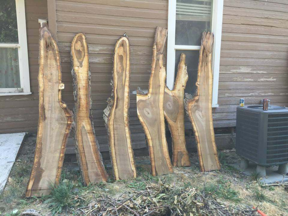 Black Walnut slabs.