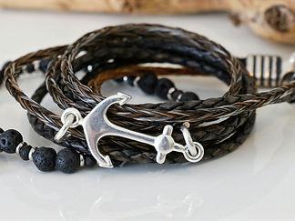 Wickelarmband aus Pferdehaar, Sterlingsi