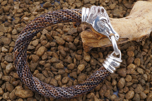 Pferdehaararmband, gehitcht