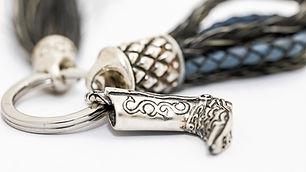 Schlüsselanhänger aus Pferdehaar und  Leder