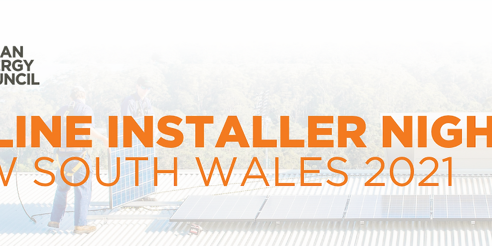 Online Installer Night - New South Wales 2021