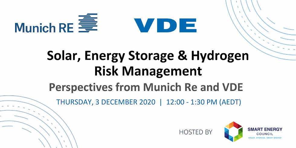 Solar, energy storage and hydrogen risk management: Perspectives from Munich Re and VDE