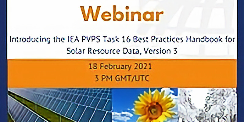 Introducing the IEA PVPS Task 16 Best Practices Handbook for Solar Resource Data, Version 3