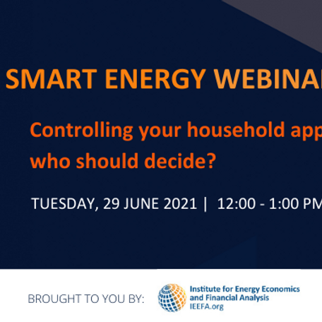 Controlling Your Household Appliances: Who Should Decide?