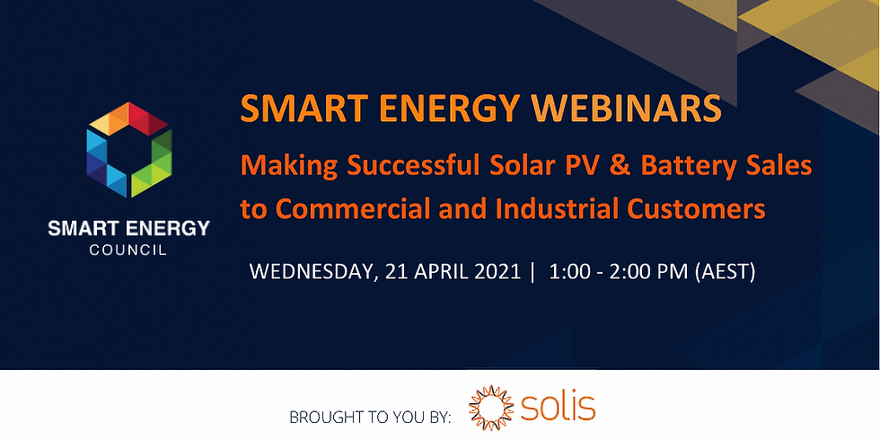 Making Successful Solar & Battery Sales to Commercial and Industrial Customers