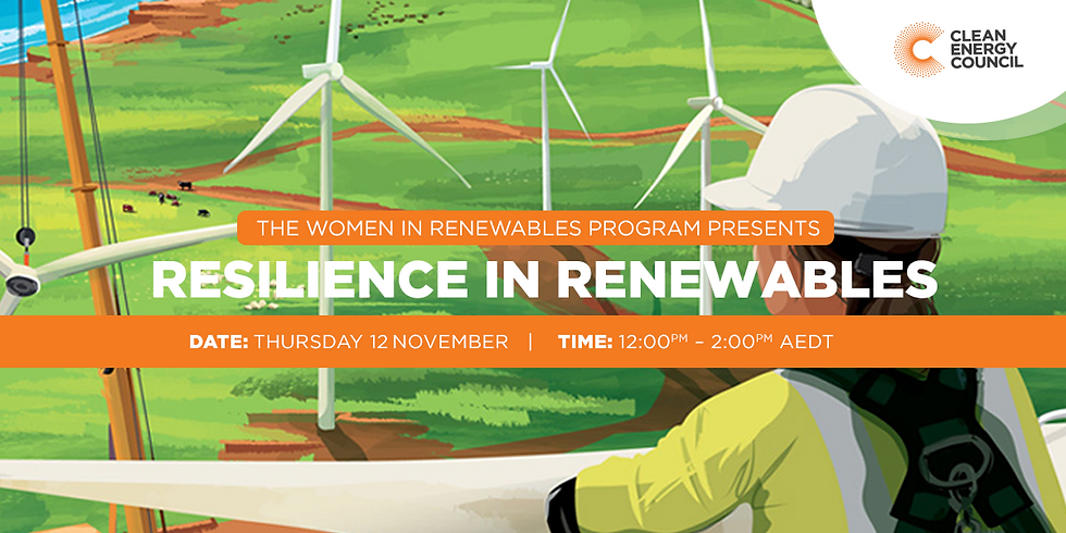 Resilience in Renewables